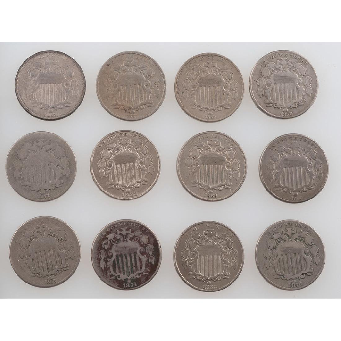 United States Shield Nickels 1866-1883