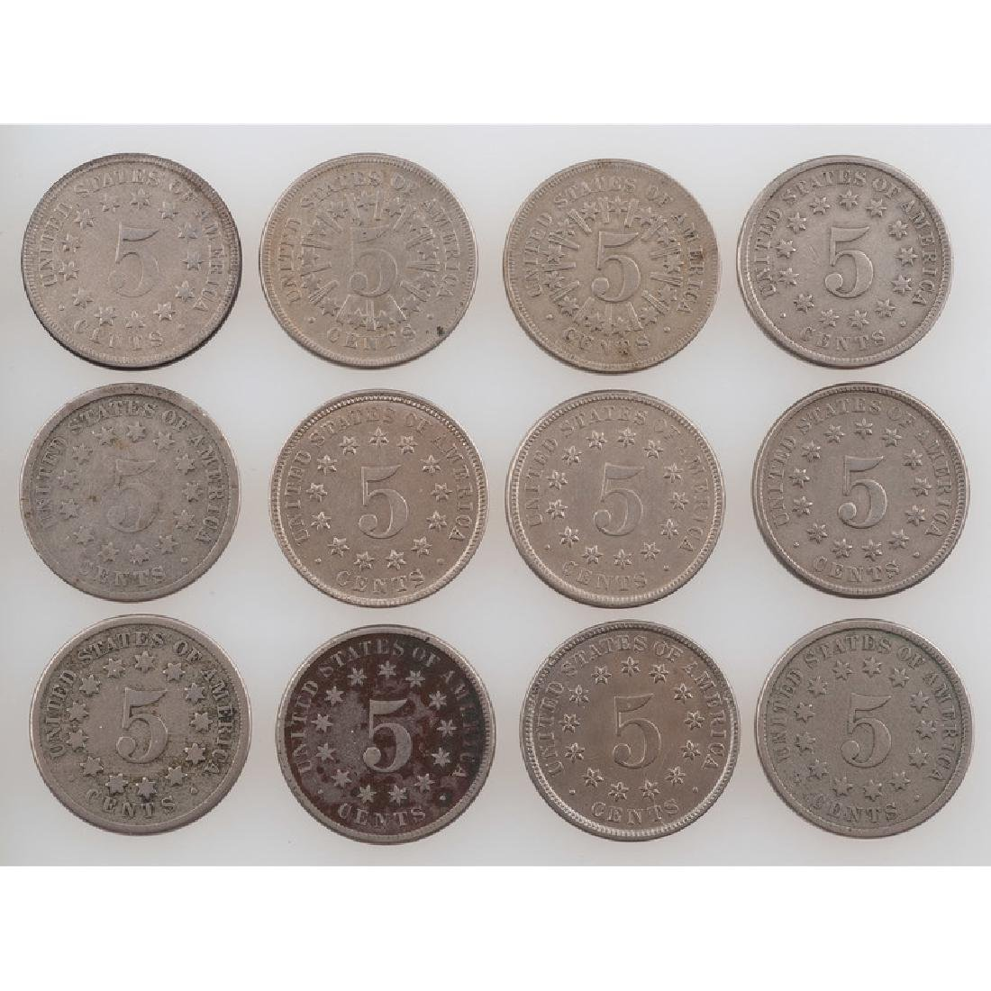United States Shield Nickels 1866-1883 - 2
