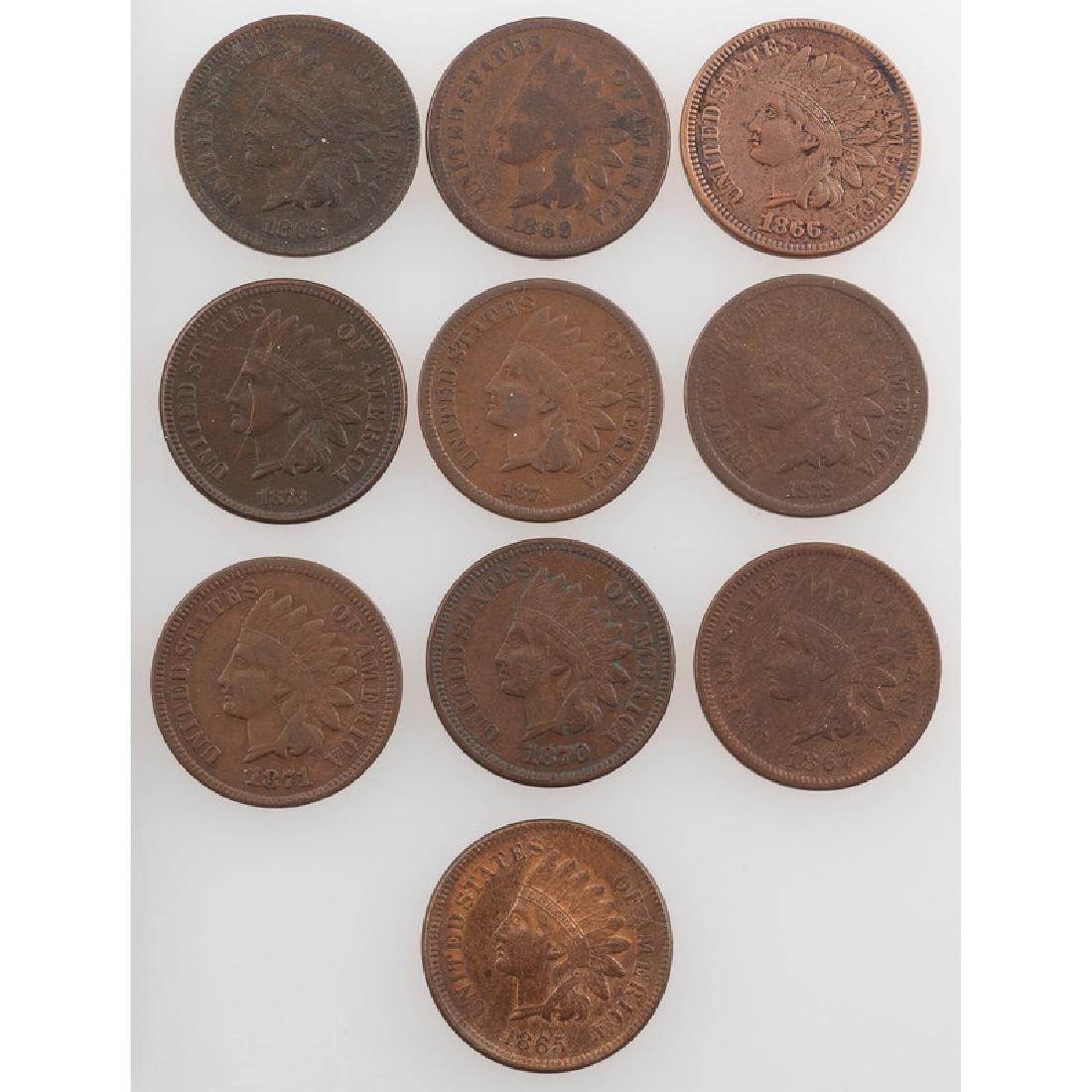United States Indian Head Cents 1865-1873