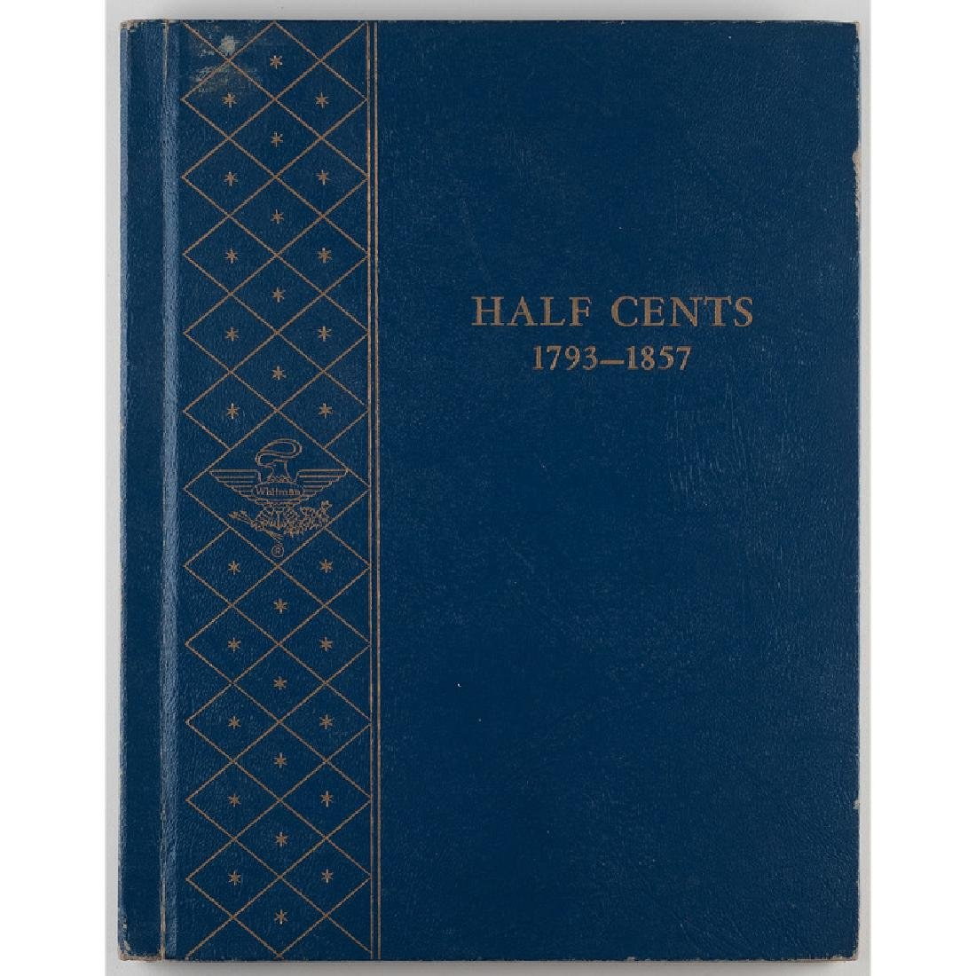 United States Half Cents Partially Complete Coin Folder