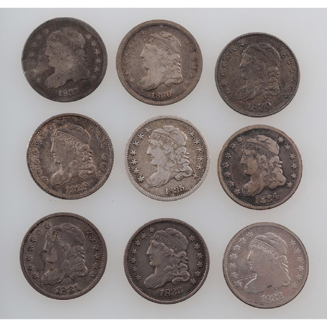 United States Capped Bust Half Dimes 1829-1837