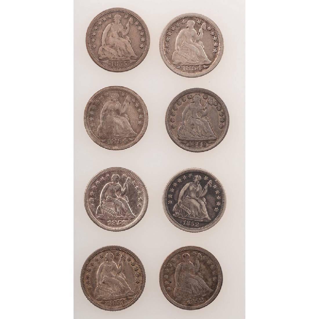 United States Liberty Seated Half Dimes 1851-1854