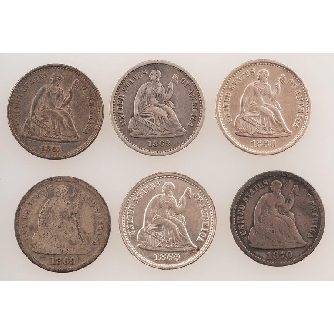 United States Liberty Seated Half Dimes 1861-1870