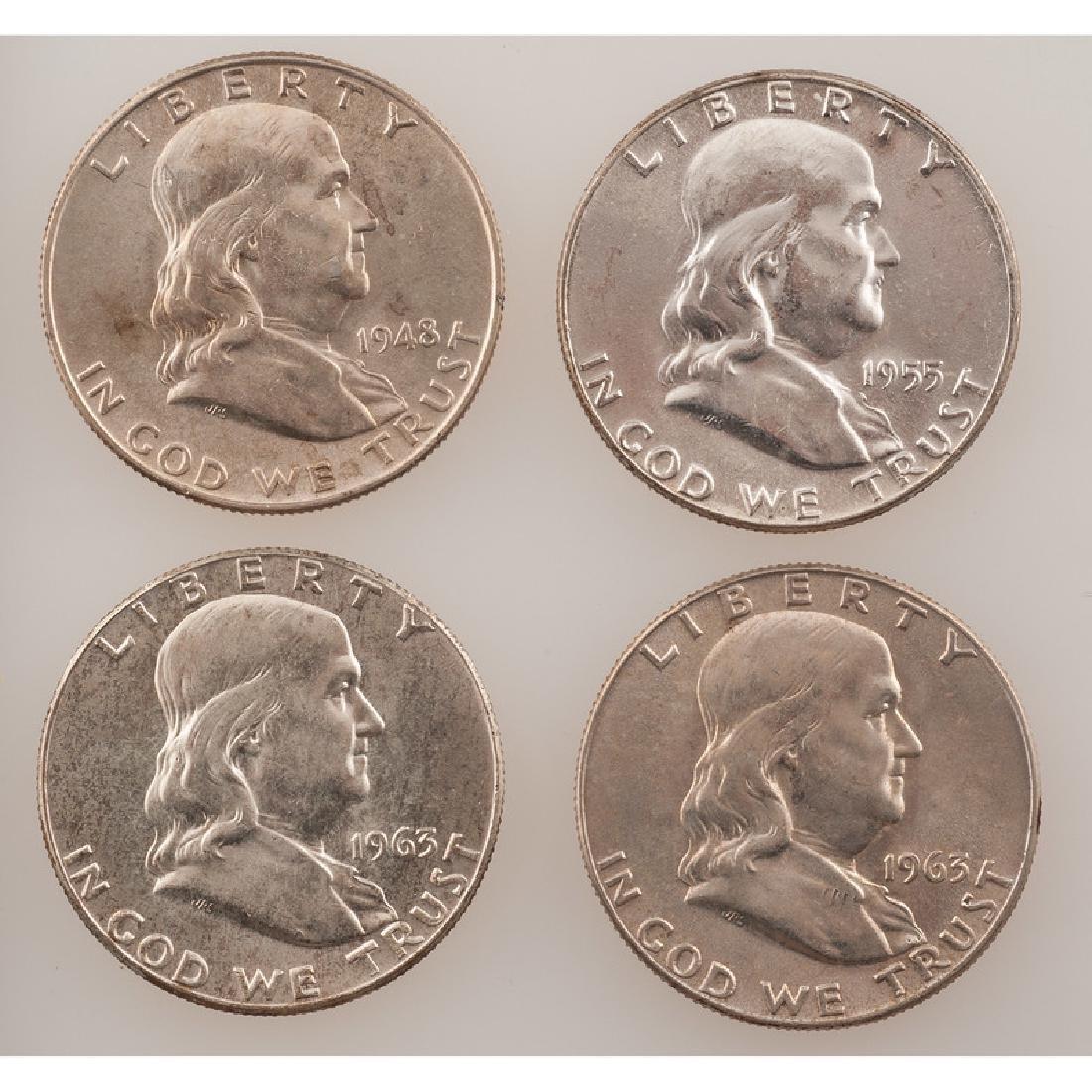 United States Franklin Half Dollars 1948-1963