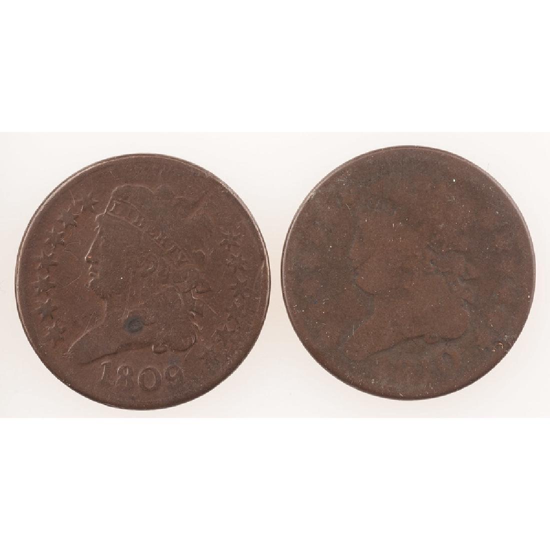 United States Half Cents 1809-1810