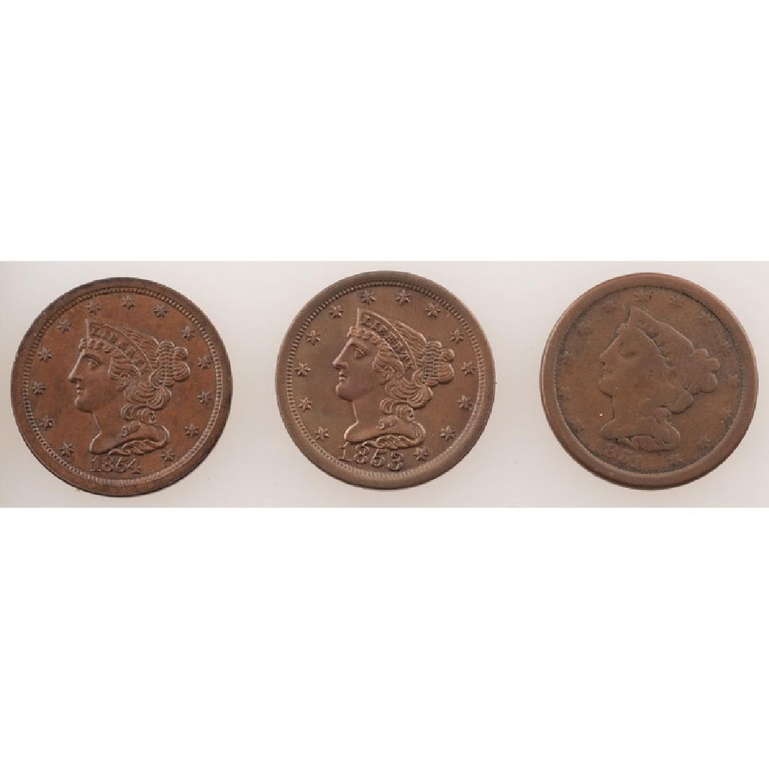 United States Braided Hair Half Cents 1851-1854