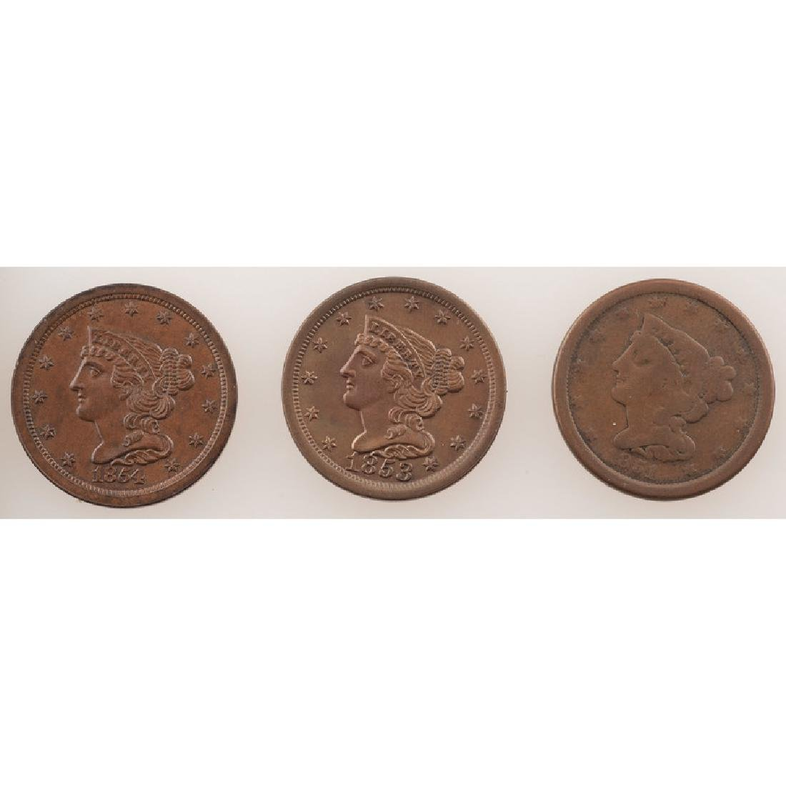 United States Braided Hair Half Cents 1851-1854