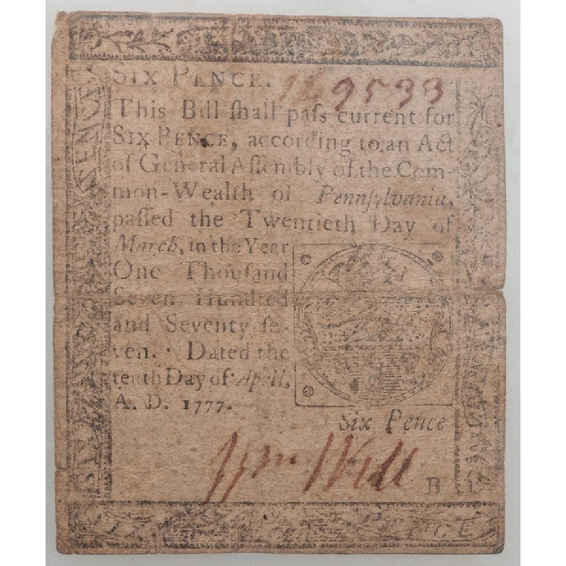 Sixpence Colonial Note - 2
