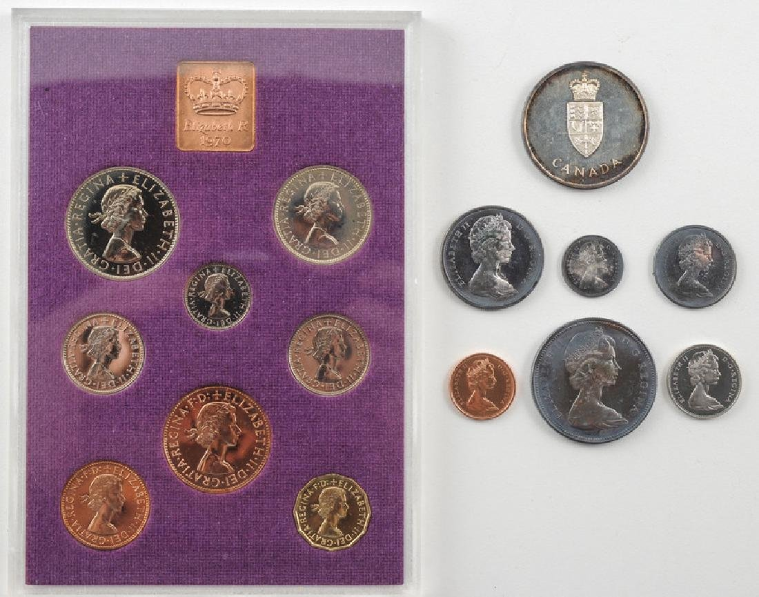 Coinage of Great Britain and Canada boxed Sets