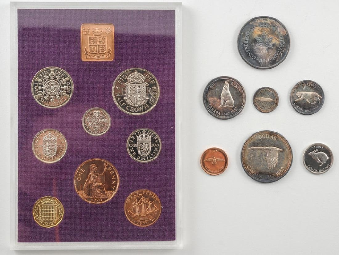 Coinage of Great Britain and Canada boxed Sets - 2