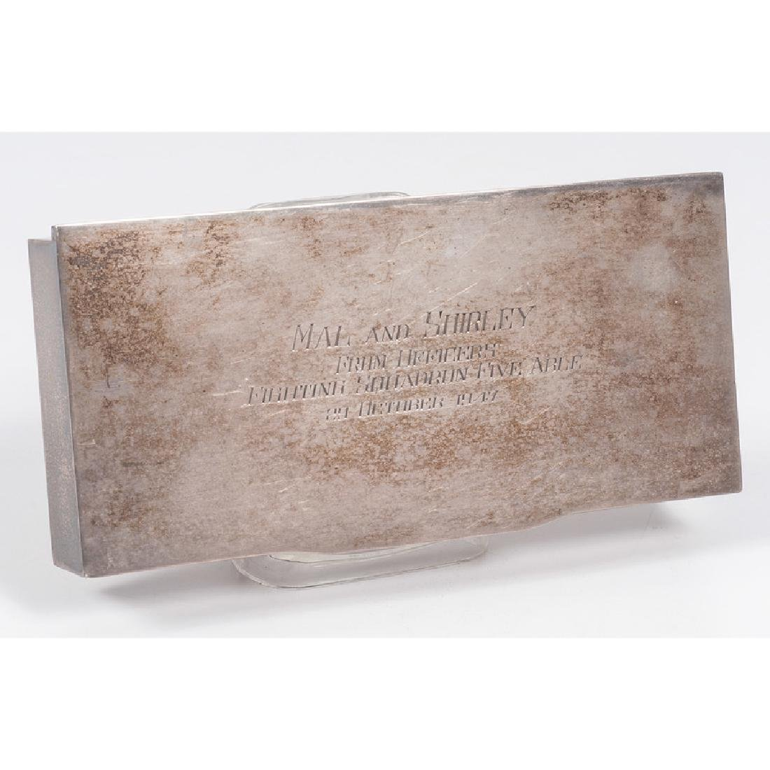 Sterling Cigarette Box with Presentation from American