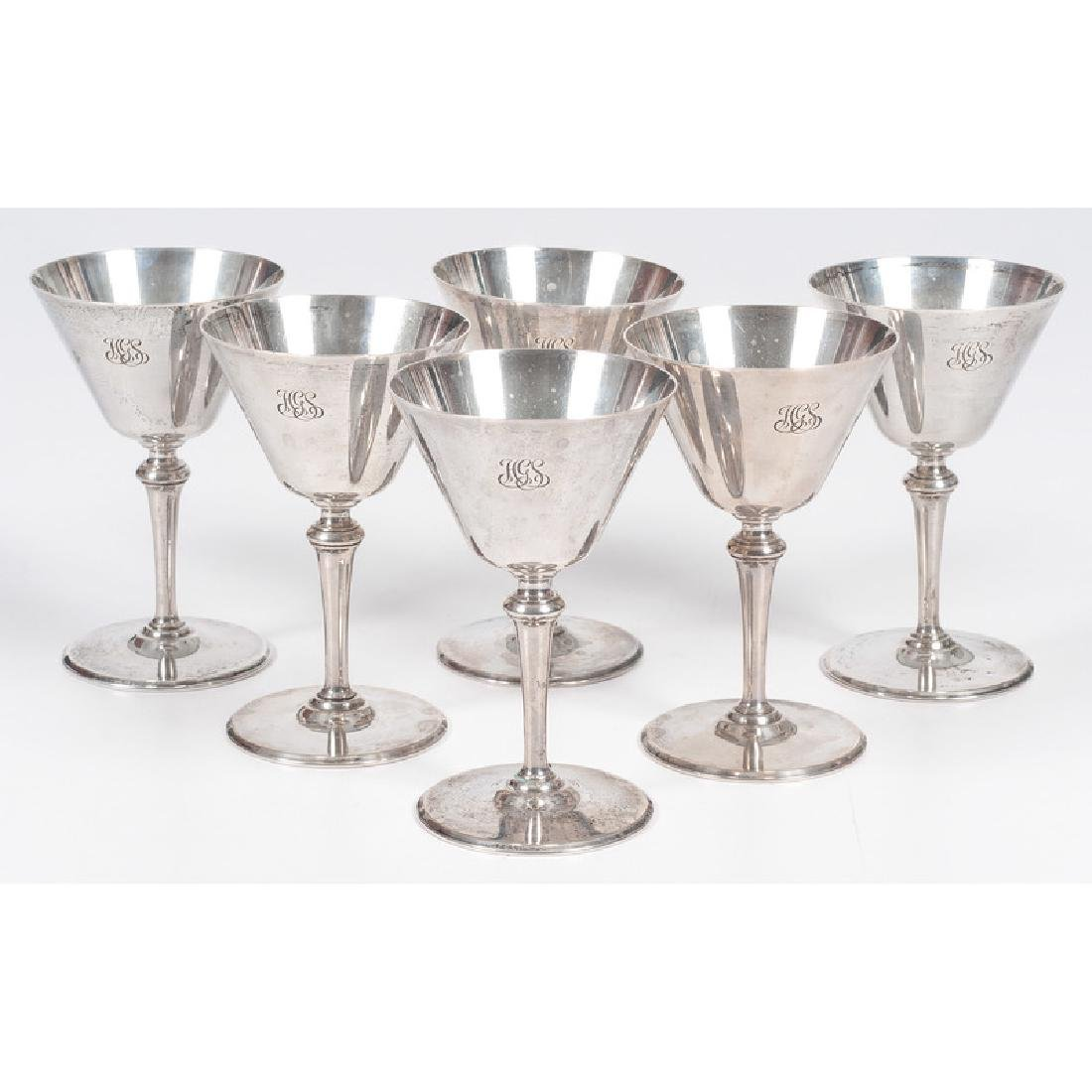 Tiffany & Co. Sterling Cocktail Glasses