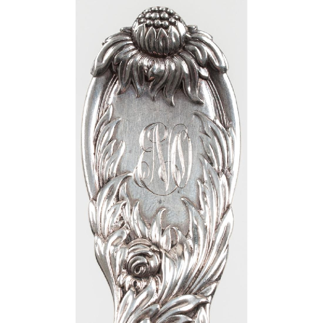 Tiffany & Co. Sterling Chrysanthemum Serving Spoon - 4
