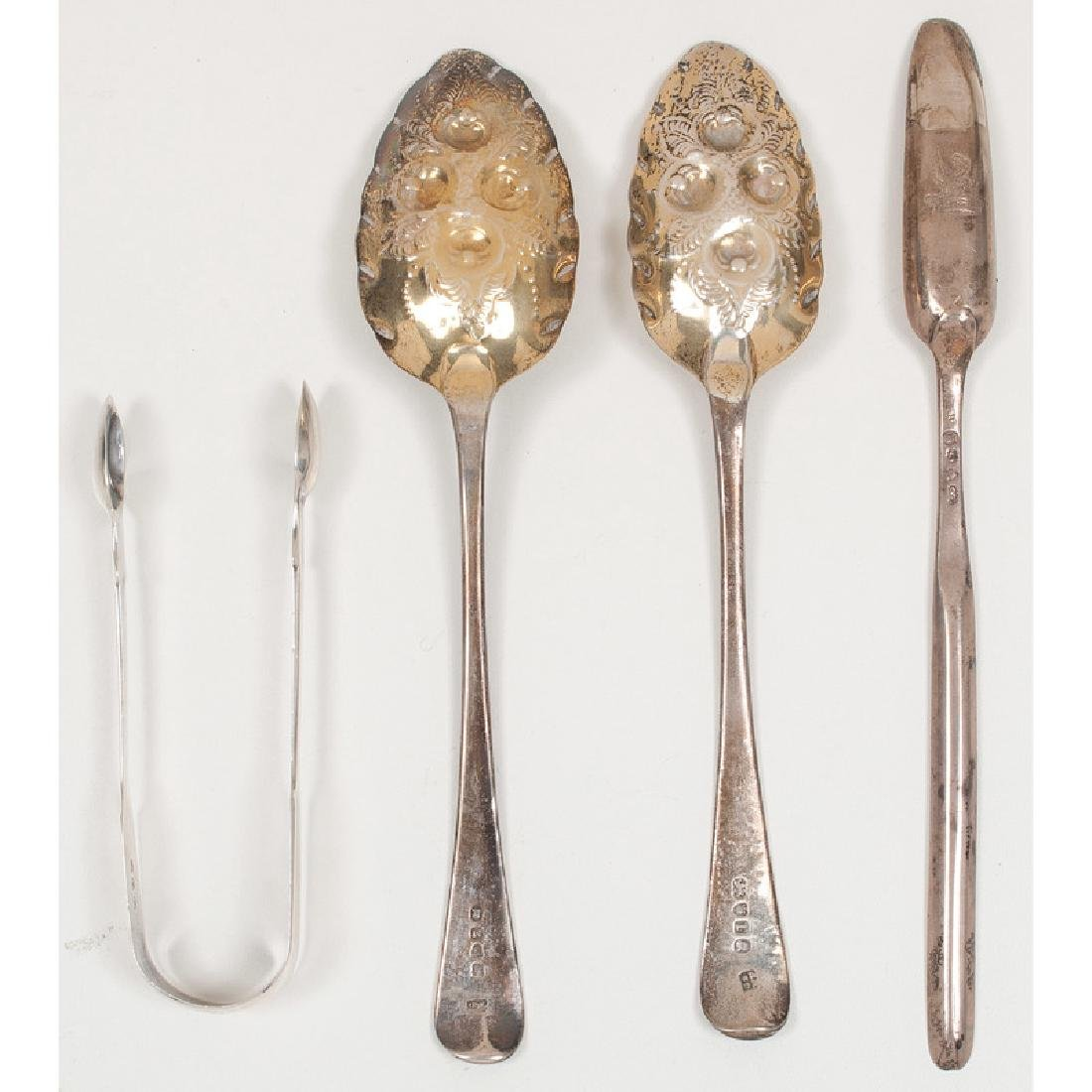 English Sterling Berry Spoons and Other Utensils - 2