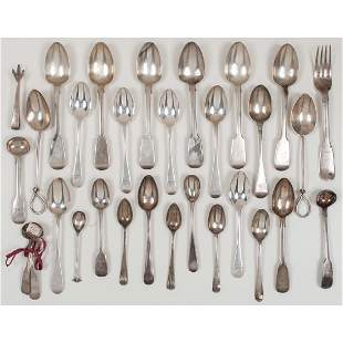 English Sterling Silver Spoons Plus