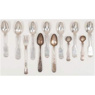 American Sterling Silver Spoons and Specialty Fork