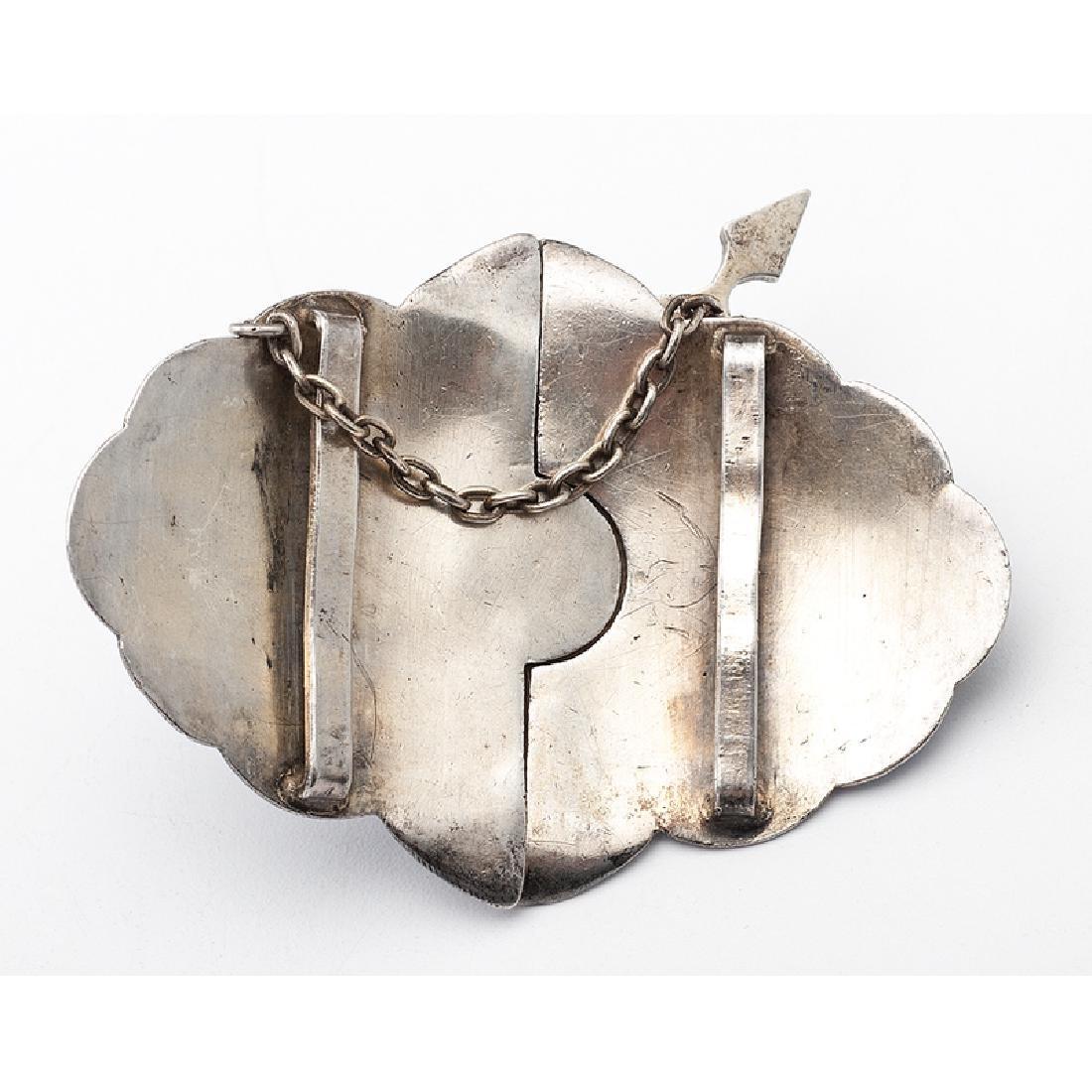 Russian Silver Enamel Belt Buckle - 3