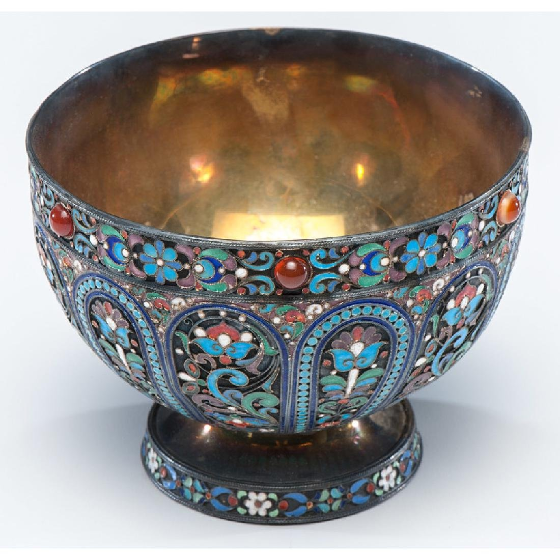 Russian Silver-Gilt and Enamel Footed Bowl - 2
