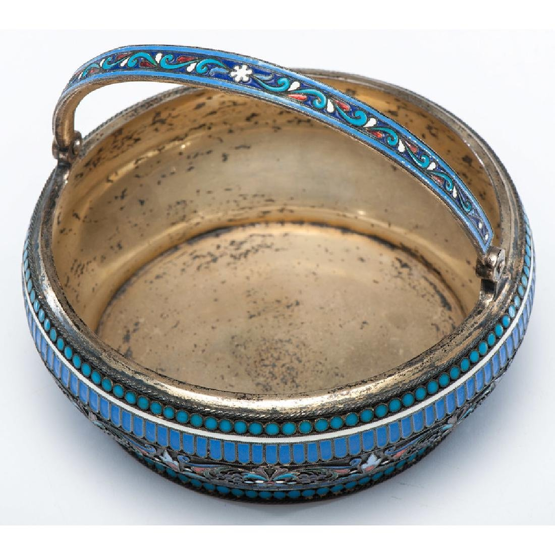 Russian Silver-Gilt and Enamel Basket - 2
