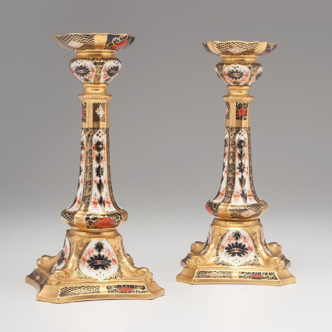 Royal Crown Derby Imari Candlesticks