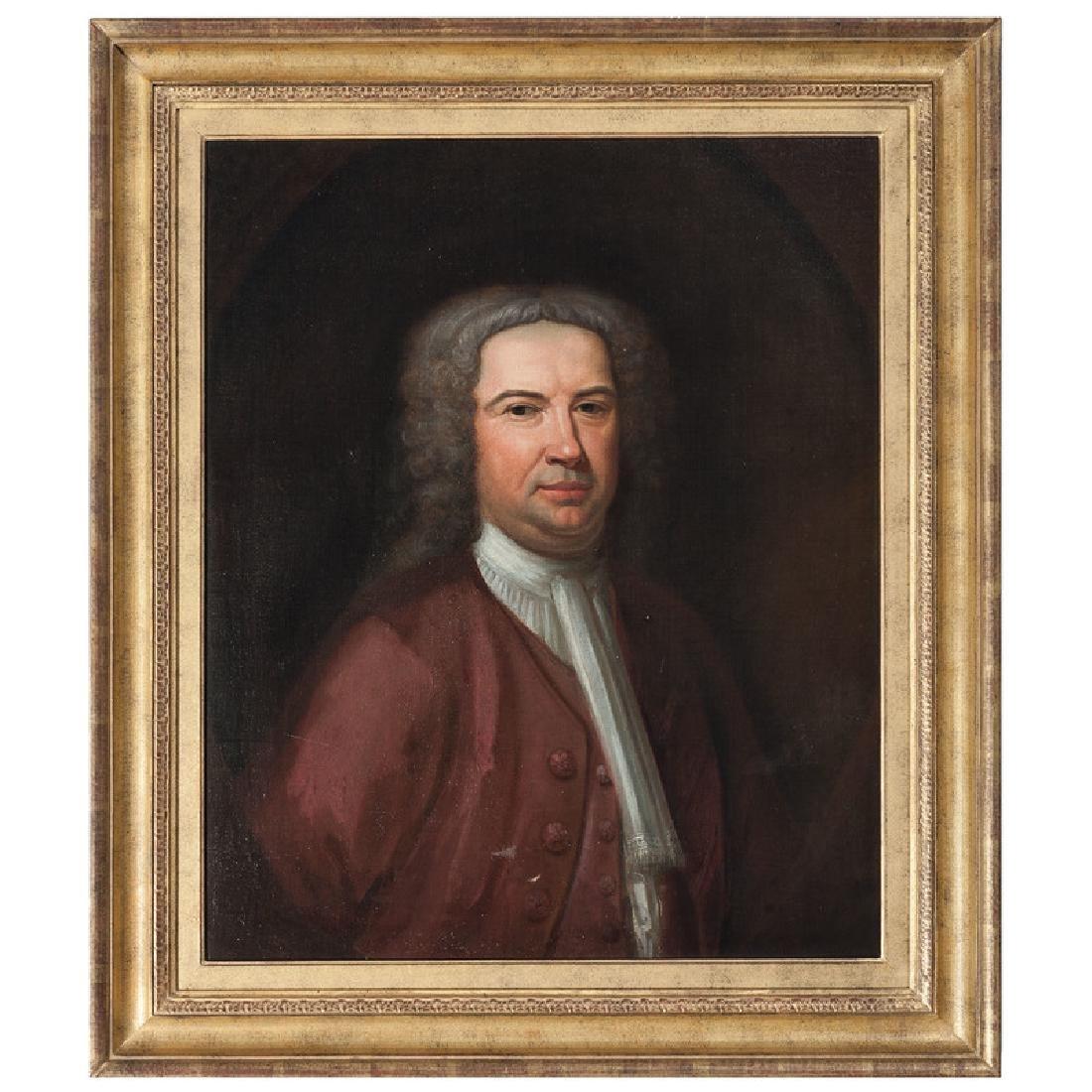 English Portrait of a Wigged Man