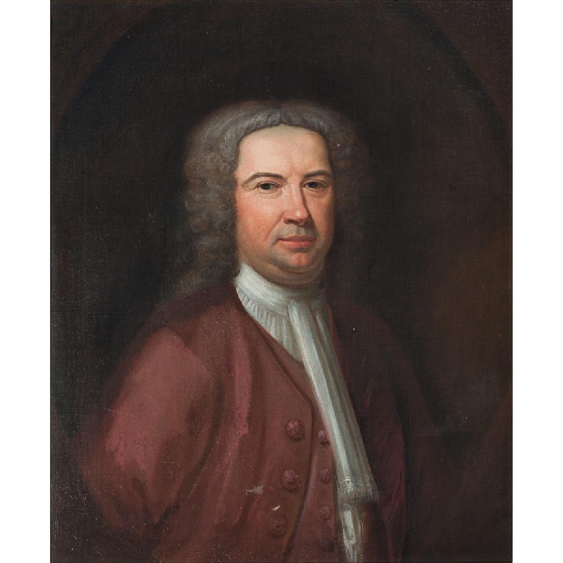 English Portrait of a Wigged Man - 2