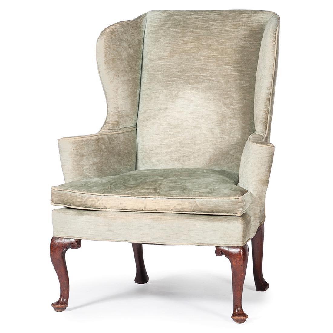 George I Walnut Easy Chair