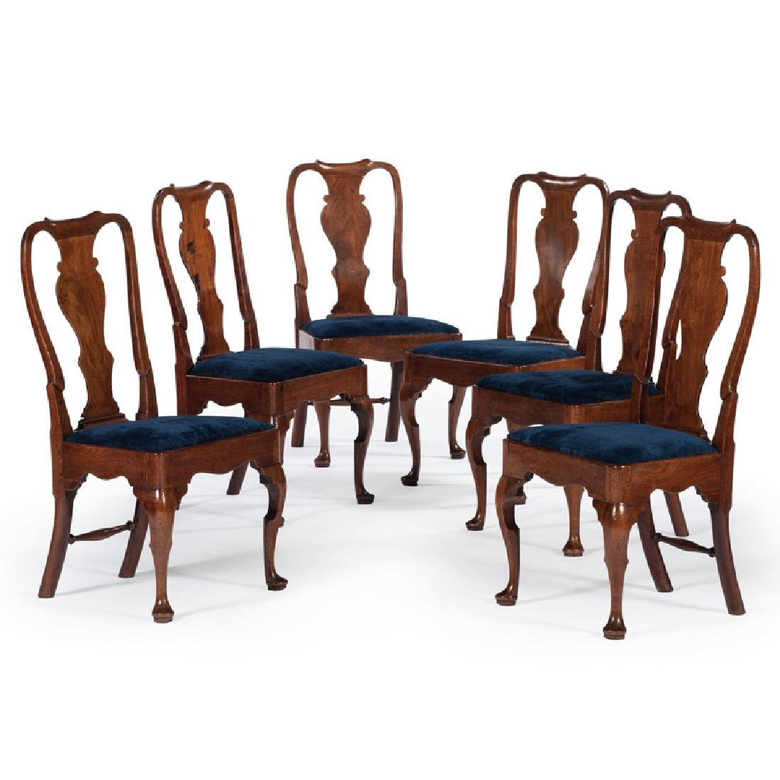 George I Walnut Side Chairs