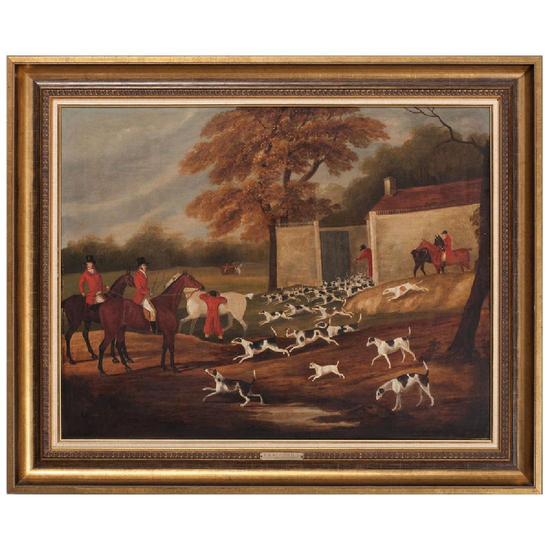 Fox Hunt Scene Attributed to Dean Wolsternholme, Jr.