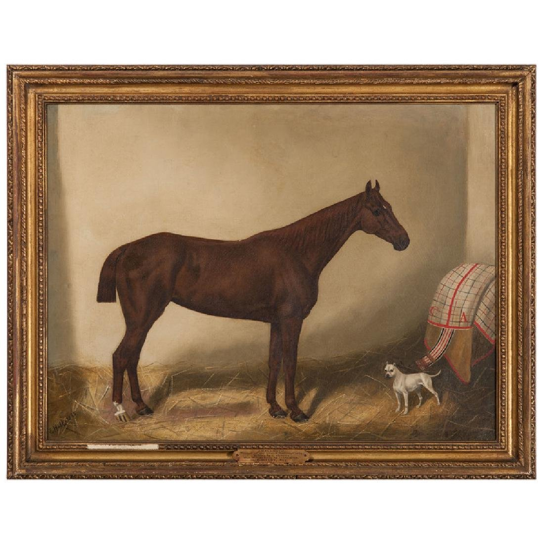 Equestrian Portrait of Emblematic, Winner of the 1864