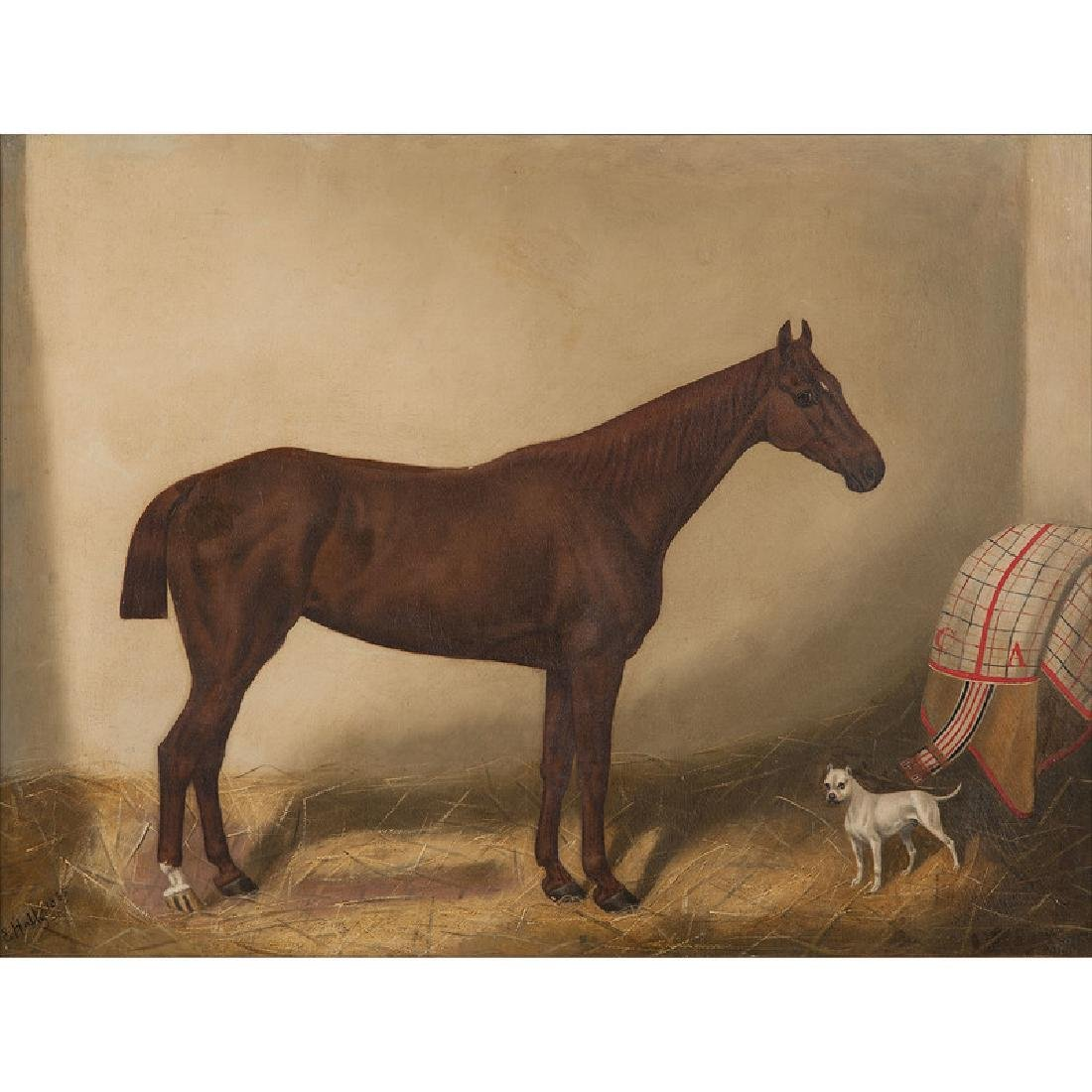 Equestrian Portrait of Emblematic, Winner of the 1864 - 2