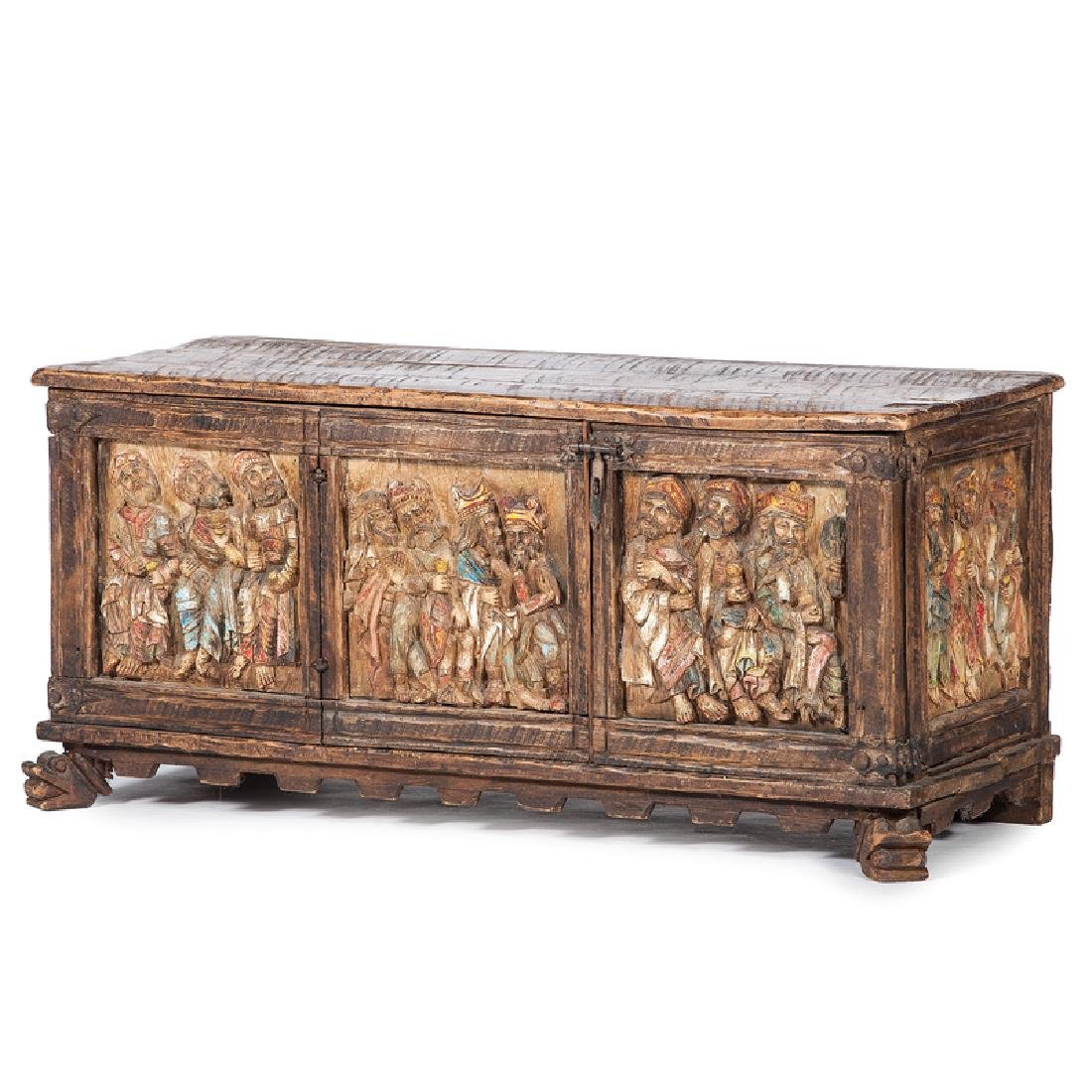 Spanish Colonial Carved Chest