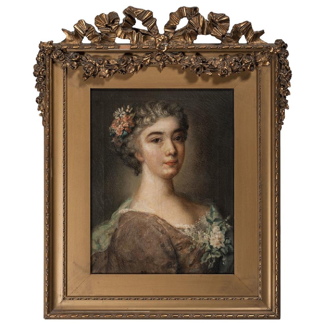 French 18th Century Portrait of a Woman