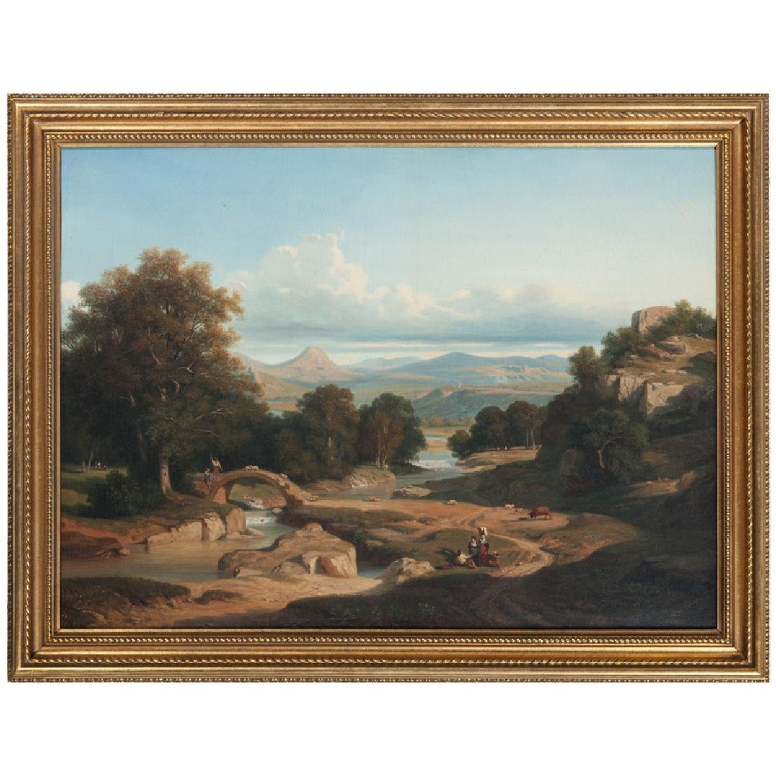 Continental, Likely Italian, Pastoral Landscape