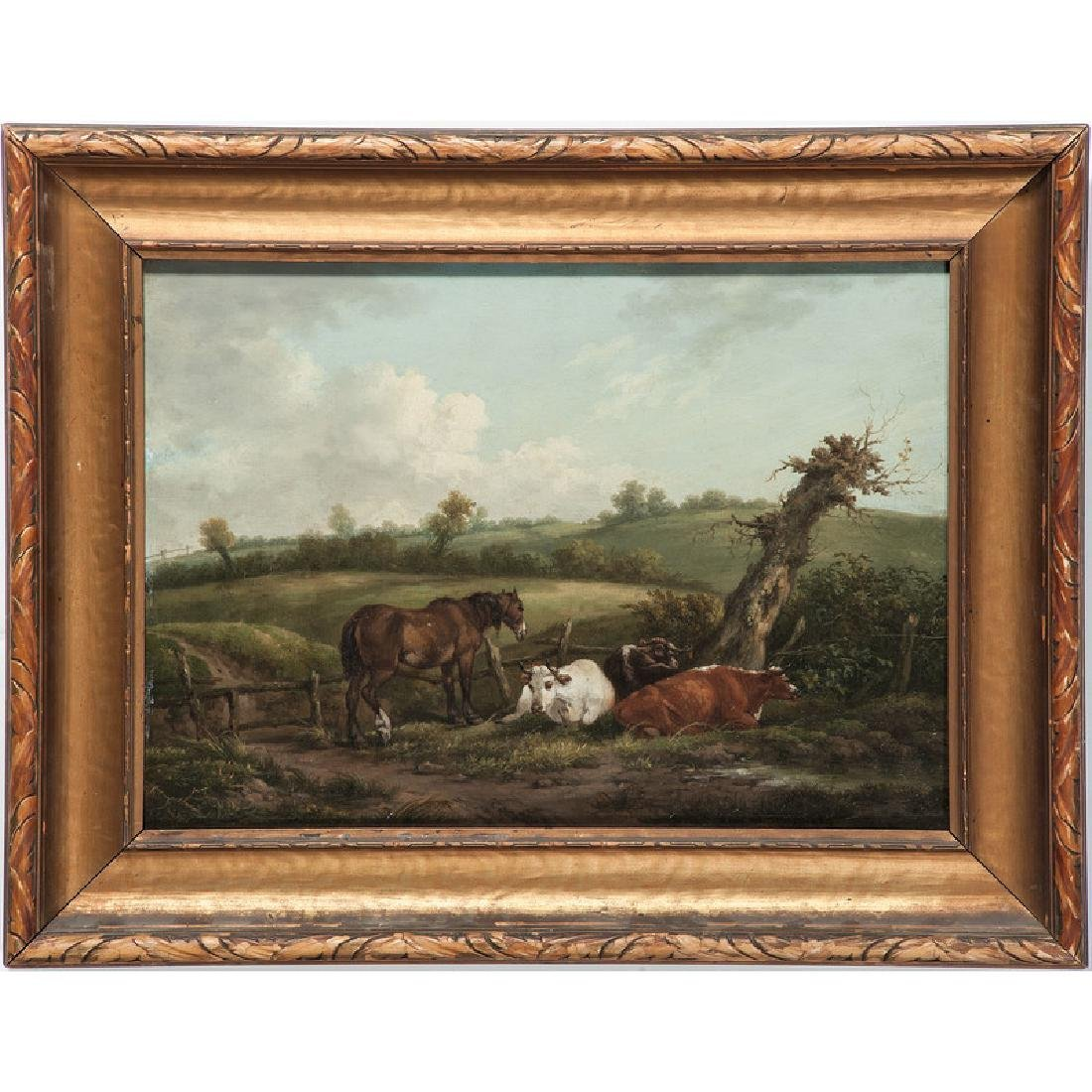Continental Pastoral Painting
