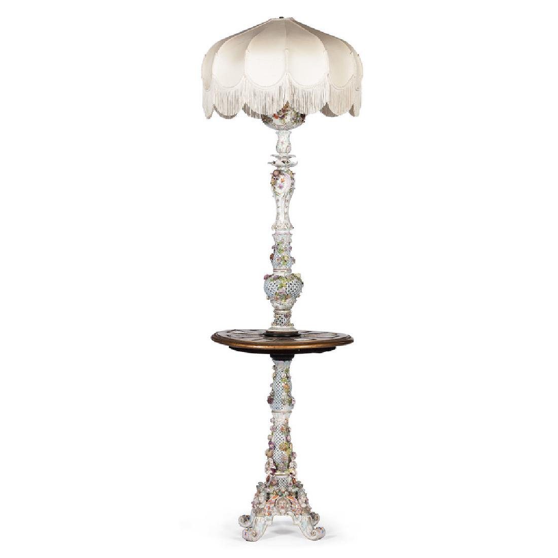 Carl Thieme Porcelain Floor Lamp