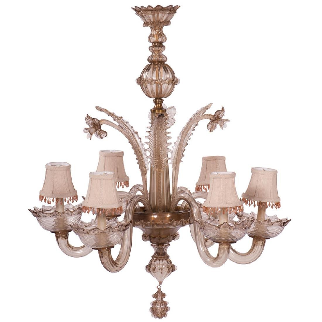 Amber Venetian Glass Chandelier