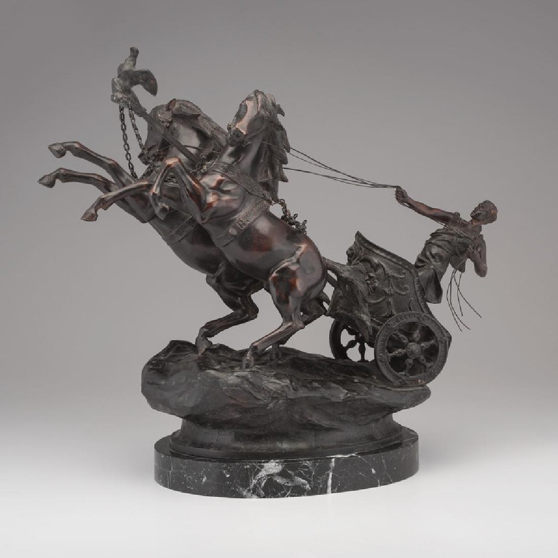 Bronze Chariot Signed P. Fallio