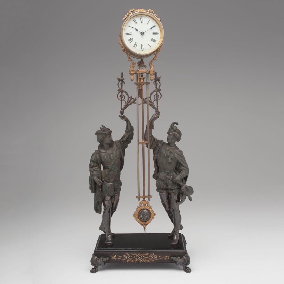 Ansonia Swing Clock, Fisher & Falconer