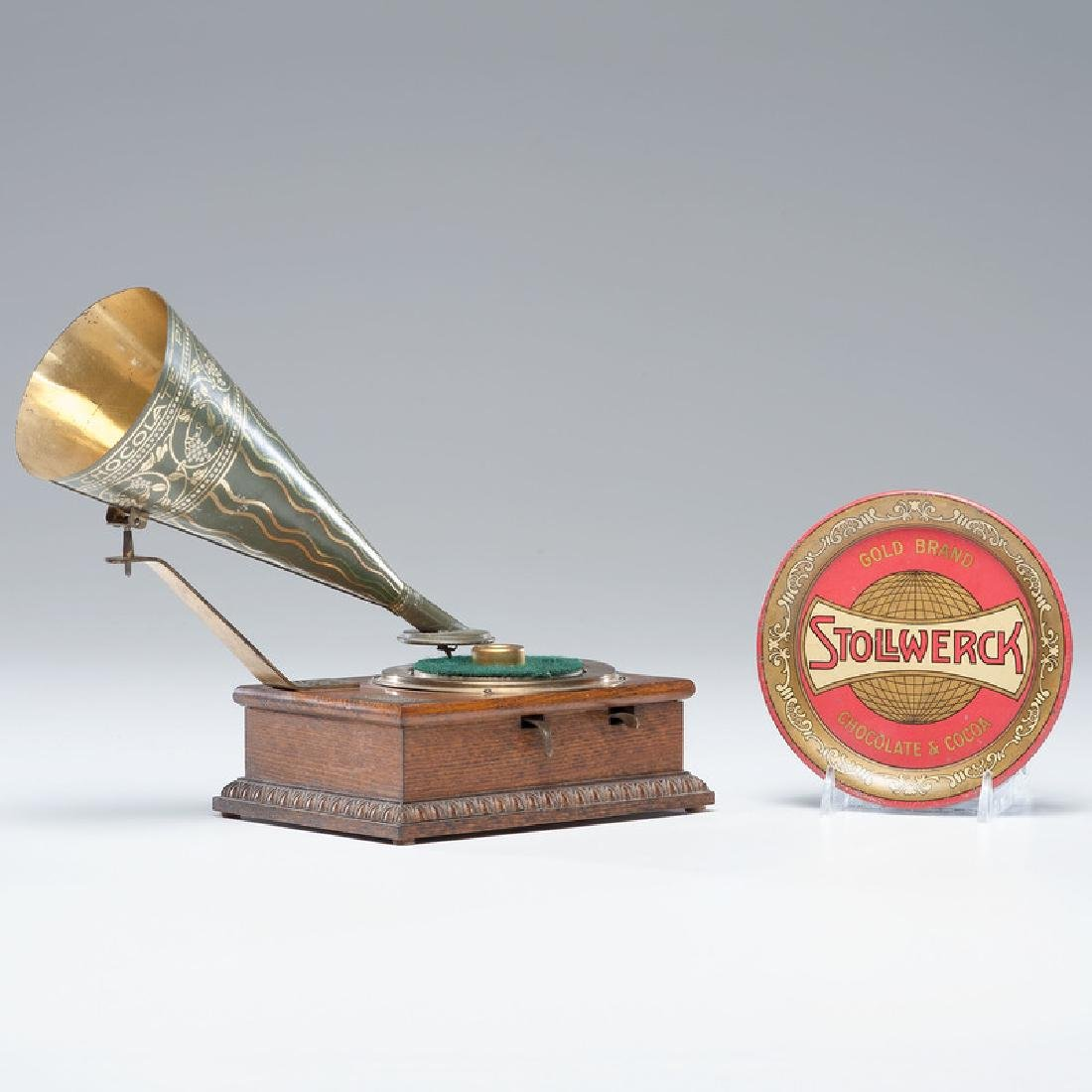 Stollwerck Chocolate Phonograph and Tip Tray
