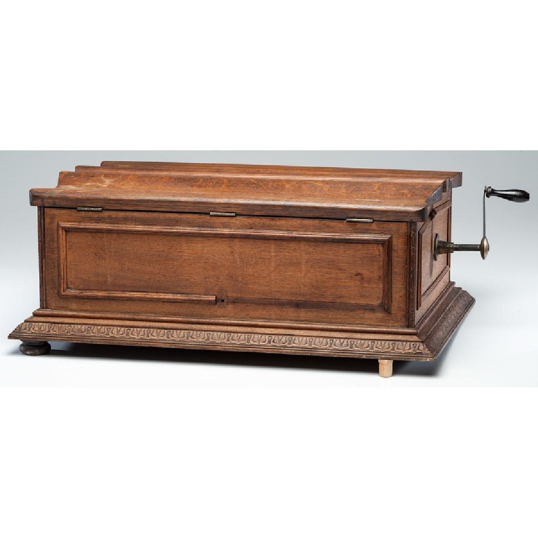 Regina Folding Coffin Top Disc Music Box - 2