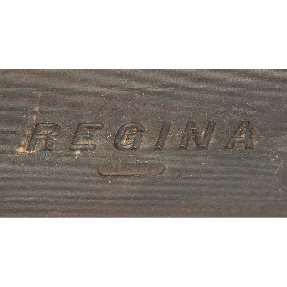 Regina Folding Coffin Top Disc Music Box - 4