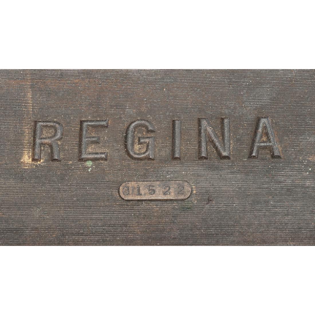 Regina Folding Coffin Top Disc Music Box - 8