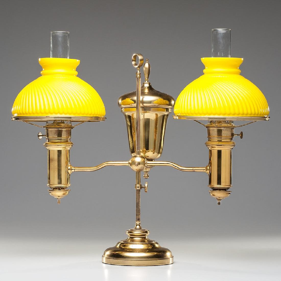 Edward Miller Double Student Lamp