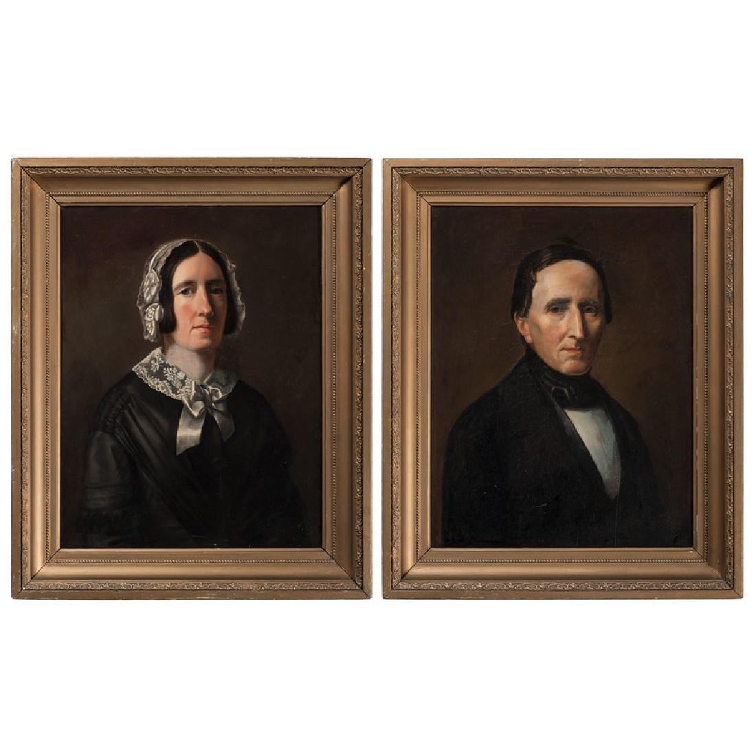 American Portraits of Man and Woman