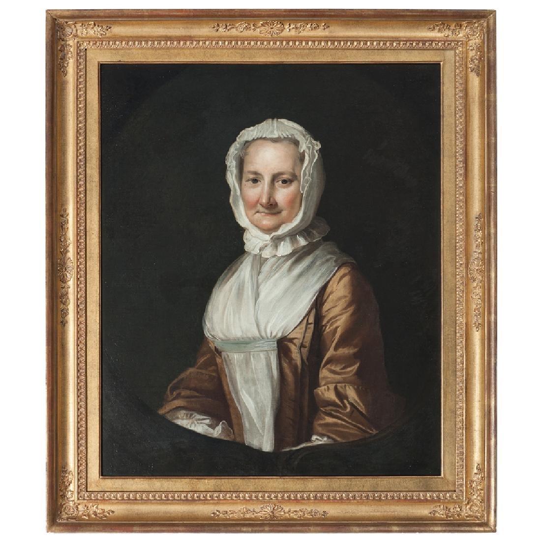 American Portrait of a Woman in a White Bonnet