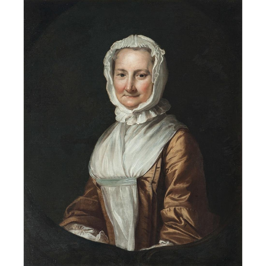 American Portrait of a Woman in a White Bonnet - 2