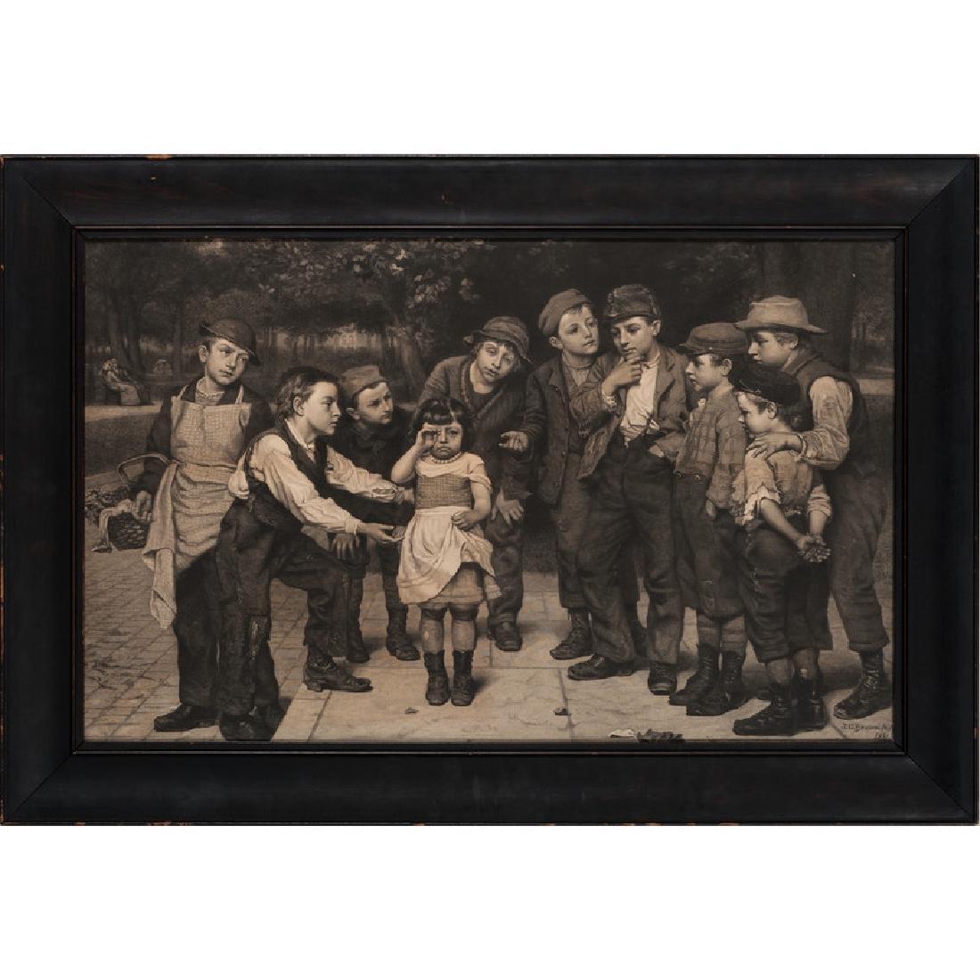 John George Brown Engraving, Little Girl Lost