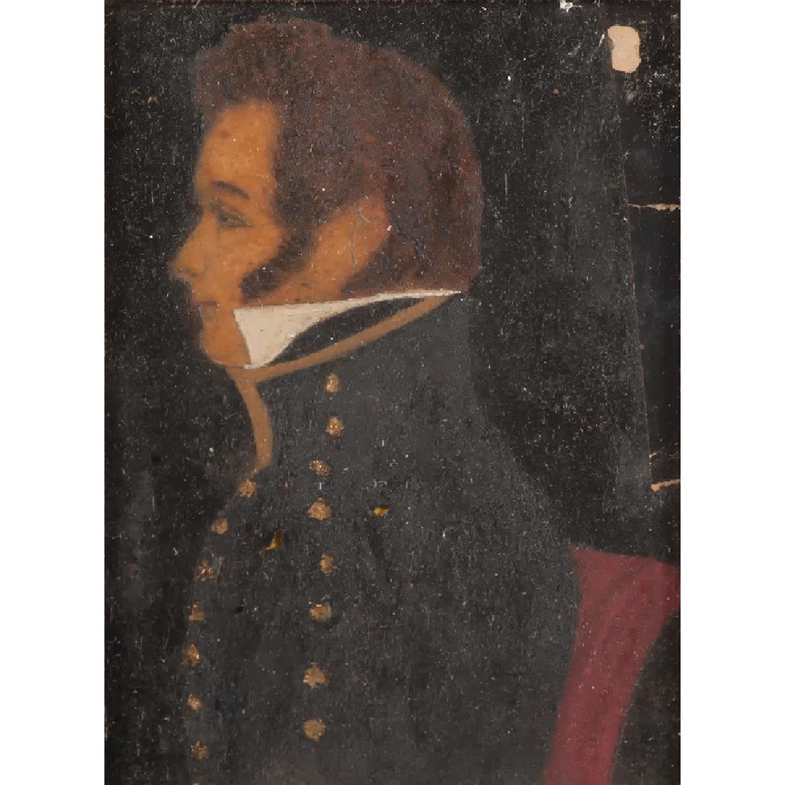 Folk Art Portrait of Lt. Simon Chase, KIA Battle of - 2