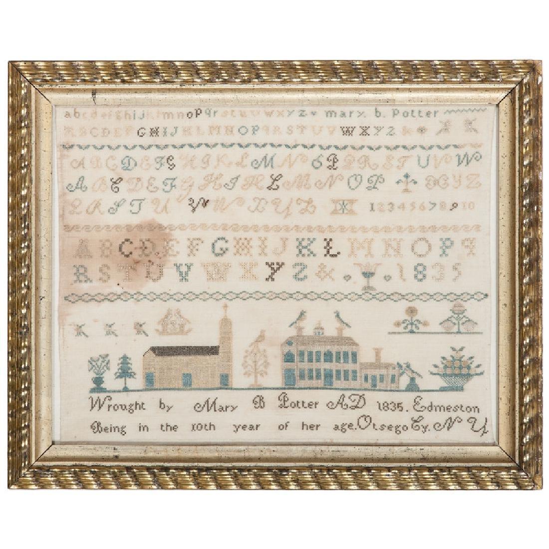 Alphabet Sampler, Otsego NY